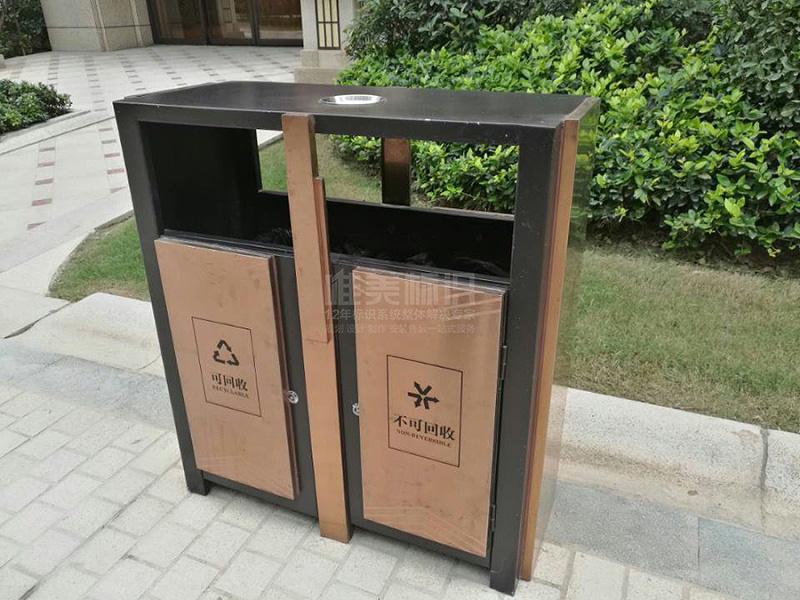 小区分类垃圾箱制作