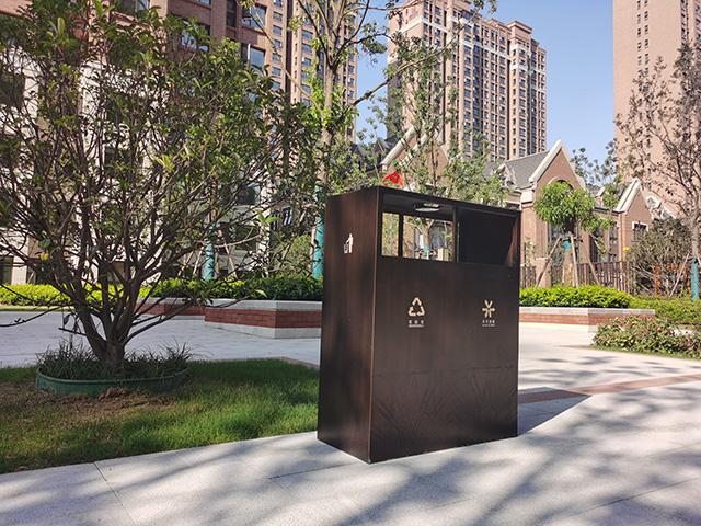 小区户外不锈钢垃圾箱制作