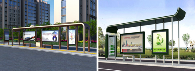 公交候车厅制作