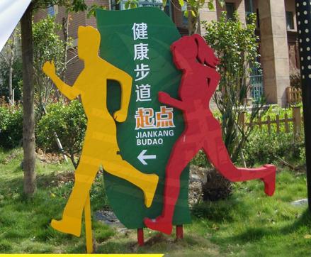 公园健康步道标识