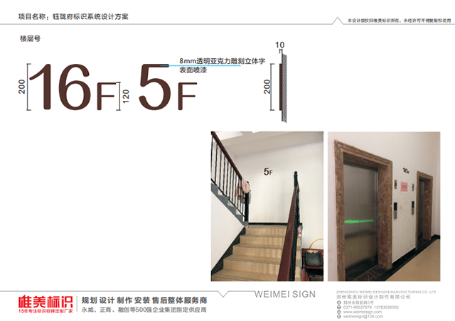 房地产小区楼层号标识