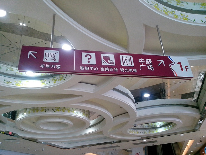 商场标识标牌