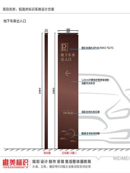 钰龙府房地产标识系统设计方案