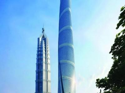 亚洲第一高楼上海中心大厦标识标识设计制作赏析
